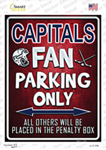 Capitals Wholesale Novelty Rectangle Sticker Decal