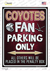 Coyotes Wholesale Novelty Rectangle Sticker Decal