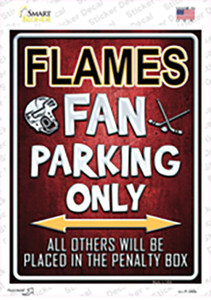 Flames Wholesale Novelty Rectangle Sticker Decal