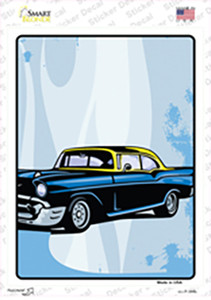 Classic Car Yellow Top Wholesale Novelty Rectangle Sticker Decal