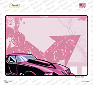 Classic Car Hot Pink Wholesale Novelty Rectangle Sticker Decal