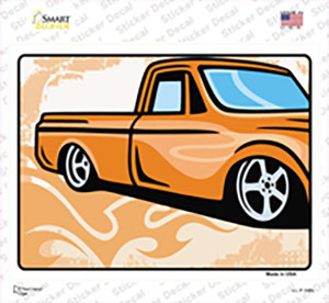 Classic Truck Wholesale Novelty Rectangle Sticker Decal