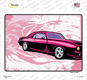 Classic Car Pink Wholesale Novelty Rectangle Sticker Decal