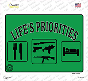 Lifes Priorities Wholesale Novelty Rectangle Sticker Decal
