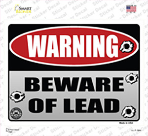 Beware of Lead Wholesale Novelty Rectangle Sticker Decal