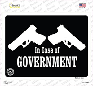 In Case of Government Wholesale Novelty Rectangle Sticker Decal