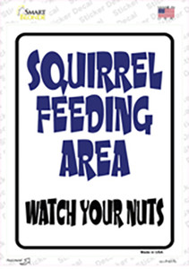 Squirrel Feeding Area Wholesale Novelty Rectangle Sticker Decal