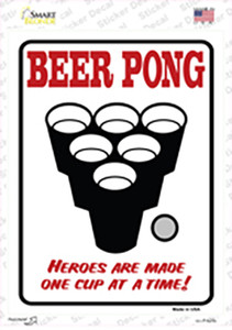 Beer Pong Wholesale Novelty Rectangle Sticker Decal