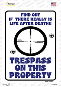 Trespass On This Property Wholesale Novelty Rectangle Sticker Decal