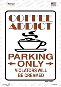 Coffee Addict Wholesale Novelty Rectangle Sticker Decal