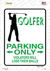 Golfer Only Male Wholesale Novelty Rectangle Sticker Decal