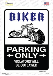 Biker Only Outlawed Wholesale Novelty Rectangle Sticker Decal