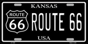 Route 66 Kansas Wholesale Metal Novelty License Plate