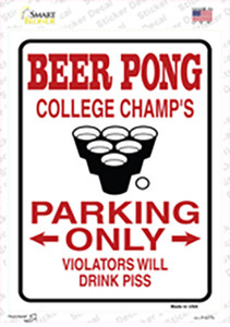 Beer Pong College Champs Wholesale Novelty Rectangle Sticker Decal