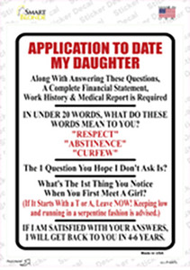 Application To Date My Daughter Wholesale Novelty Rectangle Sticker Decal
