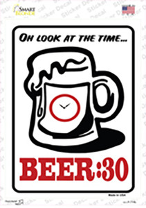 Beer 30 Wholesale Novelty Rectangle Sticker Decal