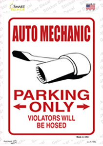 Auto Mechanic Only Wholesale Novelty Rectangle Sticker Decal