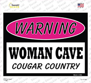 Woman Cave Cougar Country Wholesale Novelty Rectangle Sticker Decal