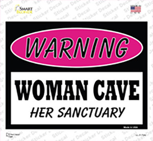 Woman Cave Her Sanctuary Wholesale Novelty Rectangle Sticker Decal