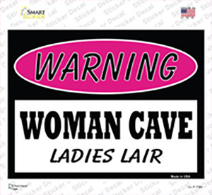 Woman Cave Ladies Lair Wholesale Novelty Rectangle Sticker Decal