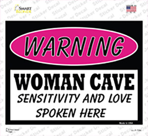 Woman Cave Sensitivity And Love Wholesale Novelty Rectangle Sticker Decal