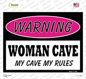 Woman Cave My Cave My Rules Wholesale Novelty Rectangle Sticker Decal