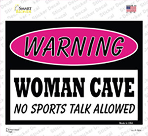 Woman Cave No Sports Talk Wholesale Novelty Rectangle Sticker Decal