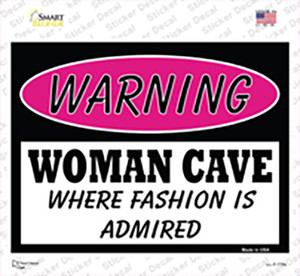 Woman Cave Fashion Is Admired Wholesale Novelty Rectangle Sticker Decal