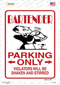 Bartender Only Wholesale Novelty Rectangle Sticker Decal