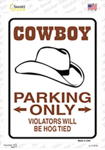 Cowboy Only Wholesale Novelty Rectangle Sticker Decal