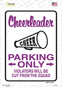 Cheerleader Only Wholesale Novelty Rectangle Sticker Decal