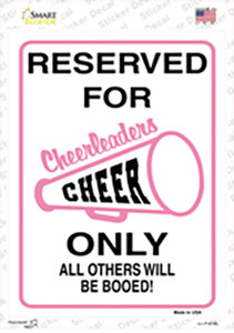 Reserved for Cheer Only Wholesale Novelty Rectangle Sticker Decal