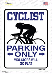 Cyclist Only Wholesale Novelty Rectangle Sticker Decal