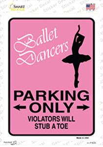Ballet Dancers Only Wholesale Novelty Rectangle Sticker Decal