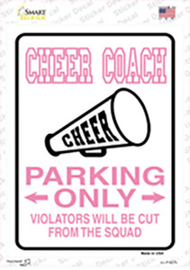 Cheer Coach Only Wholesale Novelty Rectangle Sticker Decal