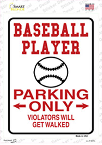 Baseball Only Wholesale Novelty Rectangle Sticker Decal