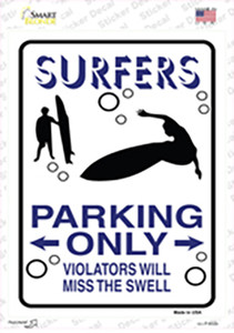 Surfers Only Wholesale Novelty Rectangle Sticker Decal