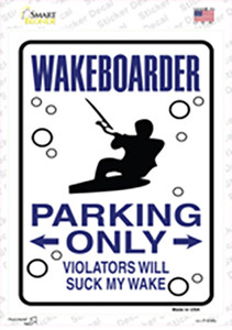 Wakeboarder Only Wholesale Novelty Rectangle Sticker Decal