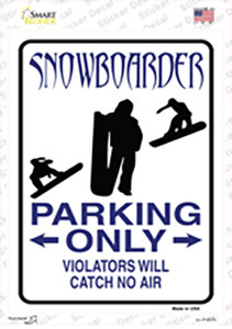 Snowboarder Only Wholesale Novelty Rectangle Sticker Decal