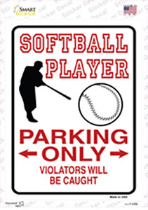 Softball Player Only Wholesale Novelty Rectangle Sticker Decal