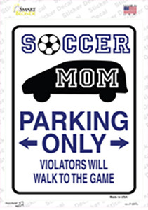 Soccer Mom Only Wholesale Novelty Rectangle Sticker Decal