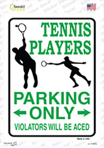 Tennis Player Only Wholesale Novelty Rectangle Sticker Decal