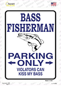 Bass Fisherman Only Wholesale Novelty Rectangle Sticker Decal