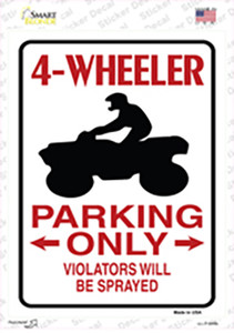 4 Wheeler Only Wholesale Novelty Rectangle Sticker Decal