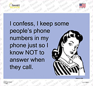 I Keep Some Peoples Phone Numbers Wholesale Novelty Rectangle Sticker Decal