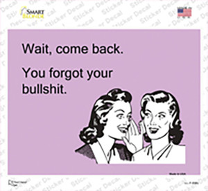 Wait. Come back. Wholesale Novelty Rectangle Sticker Decal
