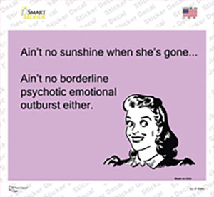 Aint No Sunshine When Shes Gone Wholesale Novelty Rectangle Sticker Decal