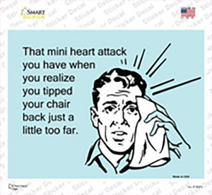 Tipped Your Chair Back Wholesale Novelty Rectangle Sticker Decal
