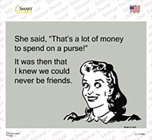A lot Of Money On A Purse Wholesale Novelty Rectangle Sticker Decal