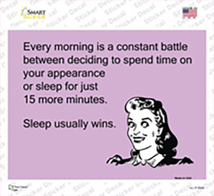 Sleep Usually Wins Wholesale Novelty Rectangle Sticker Decal